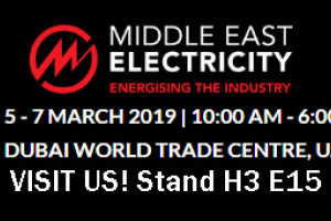 "We'll be exhibiting at Dubai ""Middle East Electricity"""